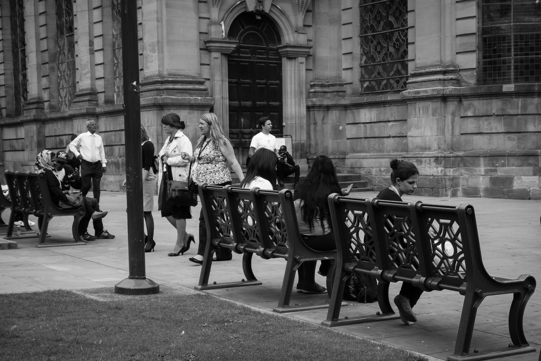 Benches around St Philip's Cathedral