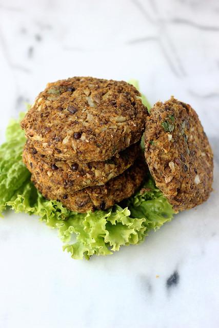 Cauliflower Lentil Veggie Burger - Gluten-free + Dairy-free
