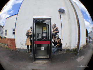 Banksy?? 'Spy Phone Booth' Cheltenham