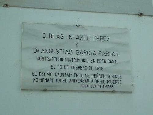 Cartel en Homenaje a Blas Infante, Peñaflor