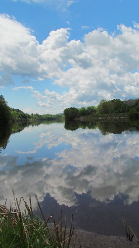 blue sky reflection water clouds river spring cloudy riverbank waterway projectweathersubmission