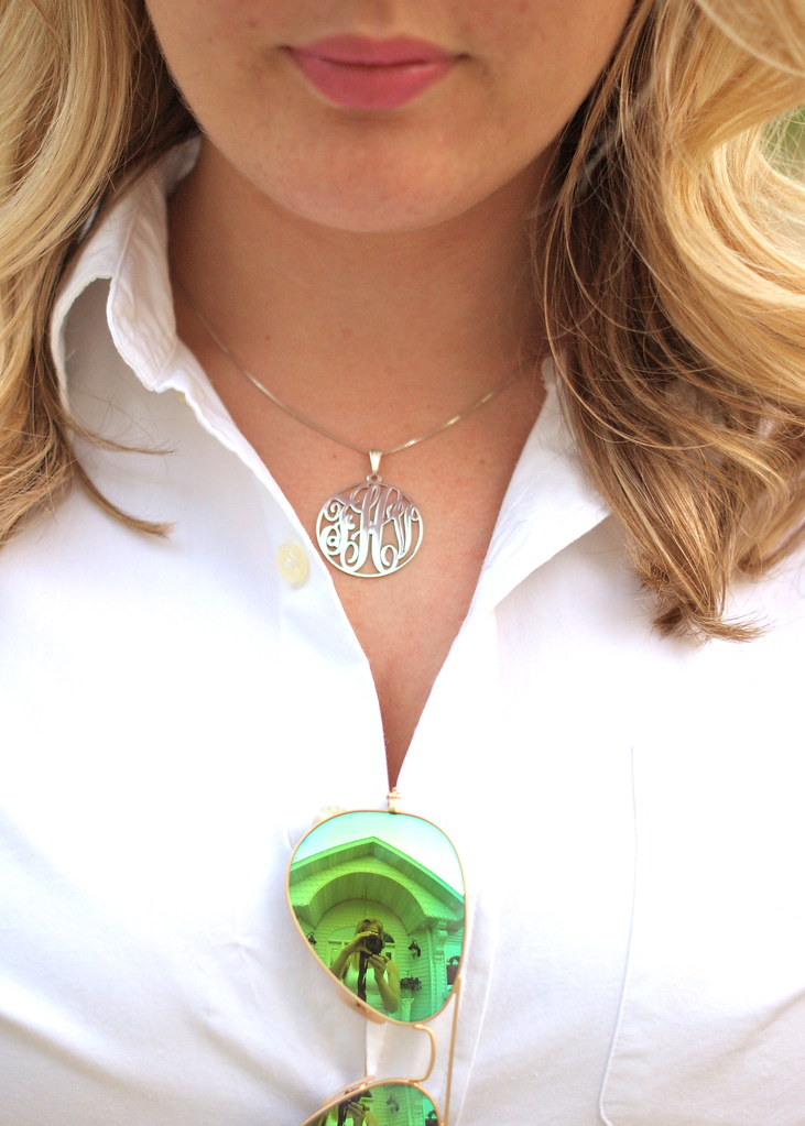 the chance to win this cute monogram necklace