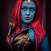 Mystique strikes a pose by digital-dreams