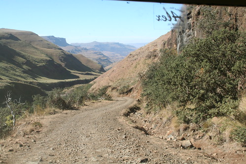 View of the Sani Pass Road