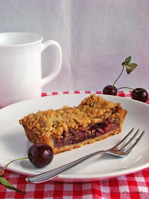 вишневый пирог с штрейзелем 1