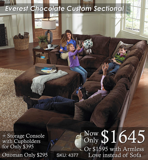 Everest Chocolate Sectional