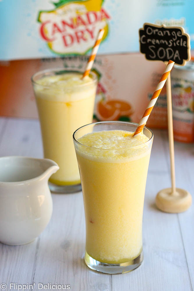 Sweet and creamy Orange Creamsicle Italian Soda tastes just like your favorite childhood popsicle but in a refreshing drink.