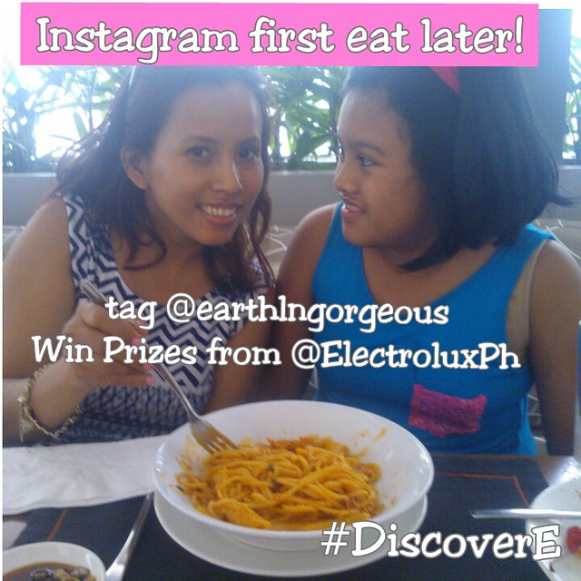 Instagram first Eat Later  @earthlngorgeous @ElectroluxPh #DiscoverE
