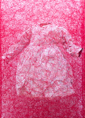 """Mixed Media Sculpture by Chiharu Shiota: Zustand des Seins (Kinderkleid) / State of Being (Children's Dress), 2013"" / ARNDT / Art Basel Hong Kong 2013 / SML.20130523.EOSM.03954"