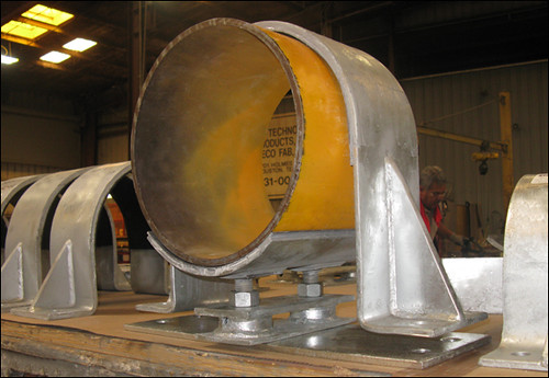 Custom Hold-Down Pipe Clamps Designed for a Natural Gas Facility