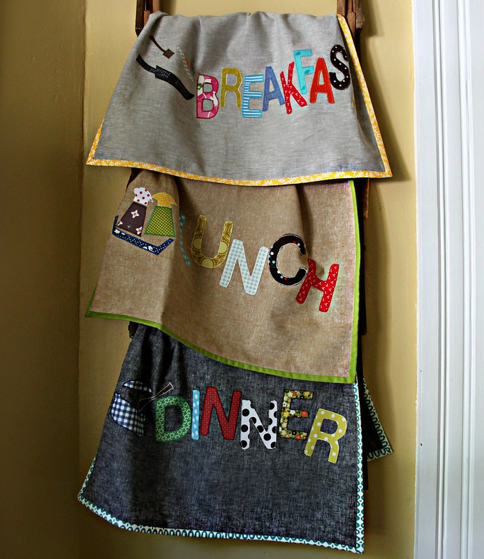 Breafast, Lunch & Dinner Towels from Patchwork Please!!