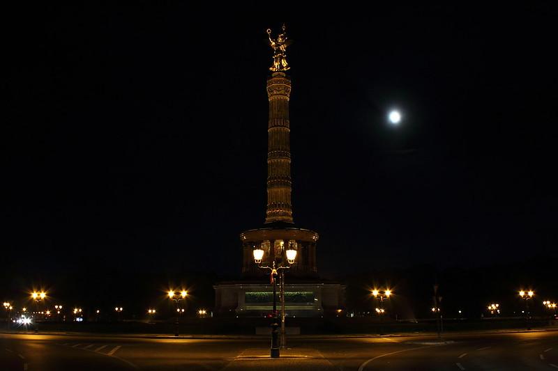 Berlin - Siegessäule bei Nacht