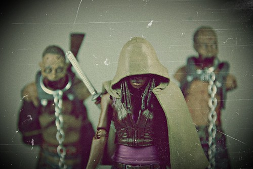 Michonne with Pet zombies