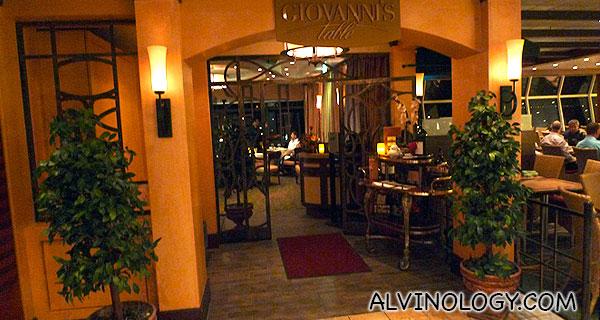 Giovanni's Table italian restaurant