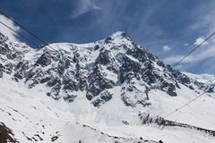 The view up to Aiguille du Midi