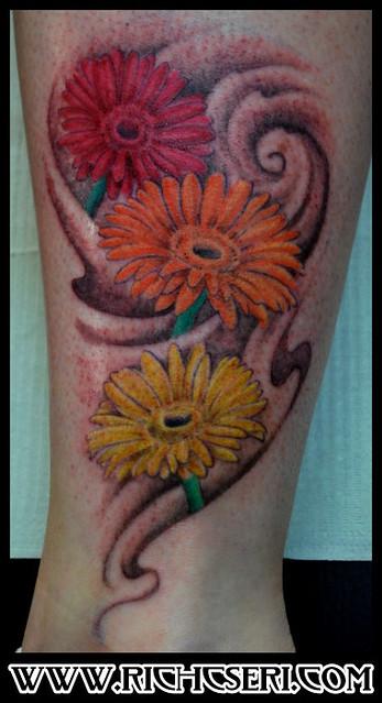 Gerber Daisy Tattoo: Gerber_daisy_tattoo_rich_cseri