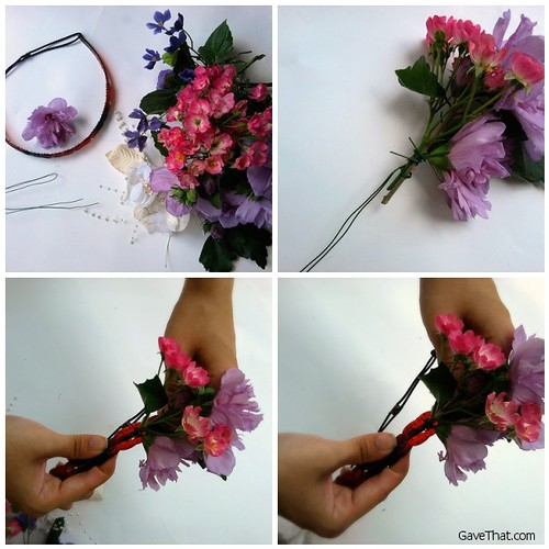 Making A DIY Floral Crown Step by Step by Gift Style Blog Gave That