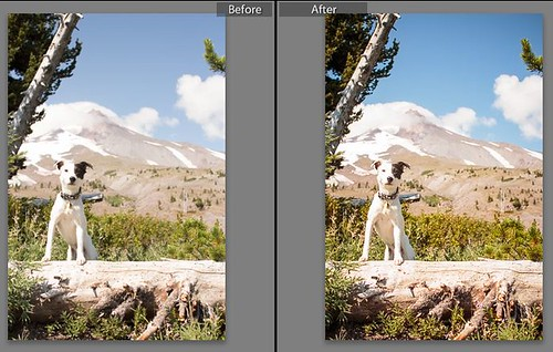 Before After Razz at Mt Hood