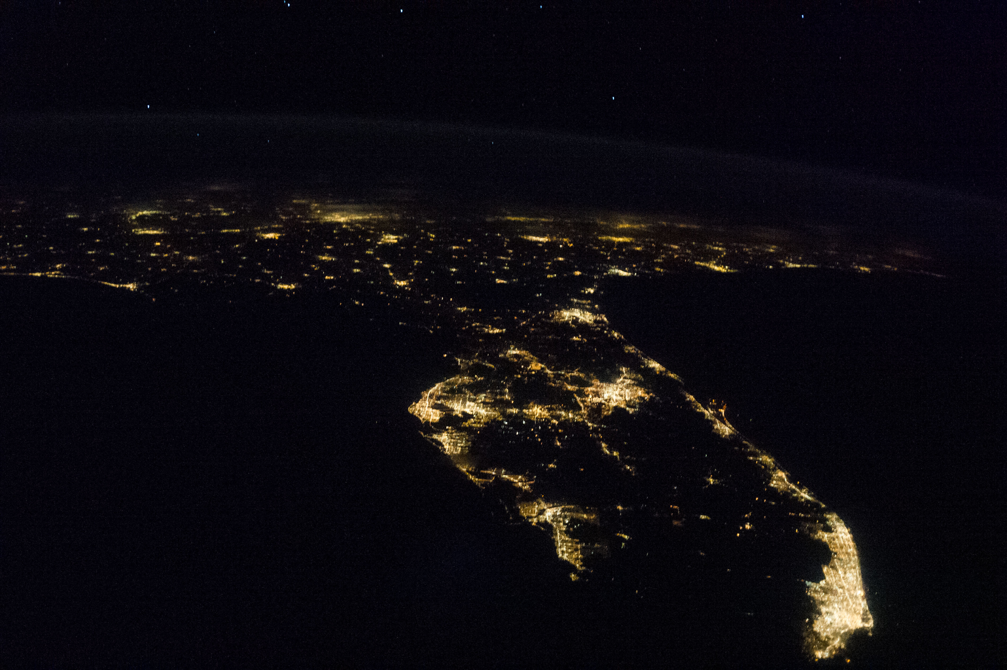 Florida and southeastern u s at night nasa for Space station florida