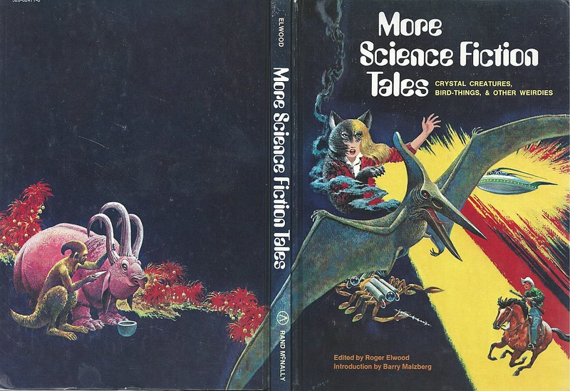 "Rod Ruth - Front And Back Cover For ""More Science Fiction Tales"" by Roger Elwood, 1975"