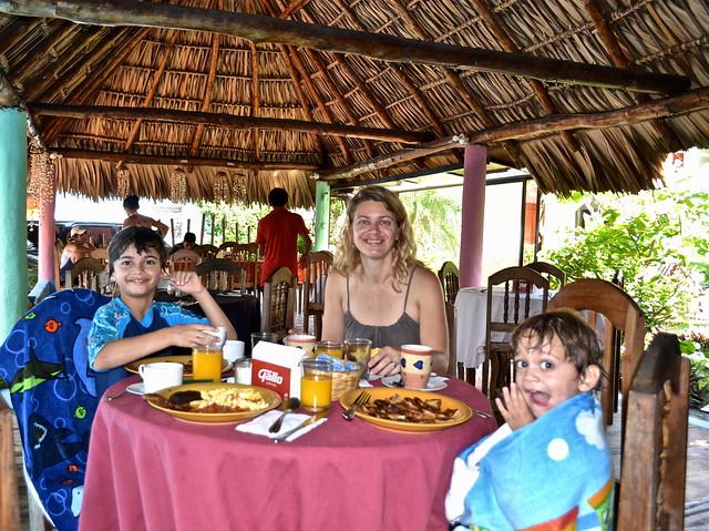 Breakfast at Atelie Del Mar Hotel - Monterrico, Guatemala