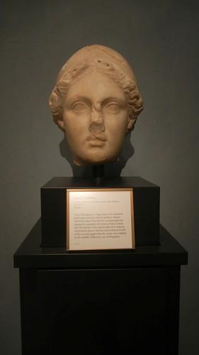 DSCN7284 _ Head of Athena, Greek, 160-150 B.C., Getty Villa, July 2013
