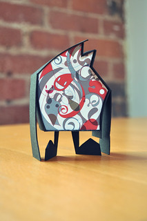 #papertoy - ink robot project 02 - standing on its own.