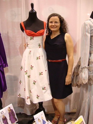 Saturday:  me in Vogue at the McCall's booth with Gertie's dress