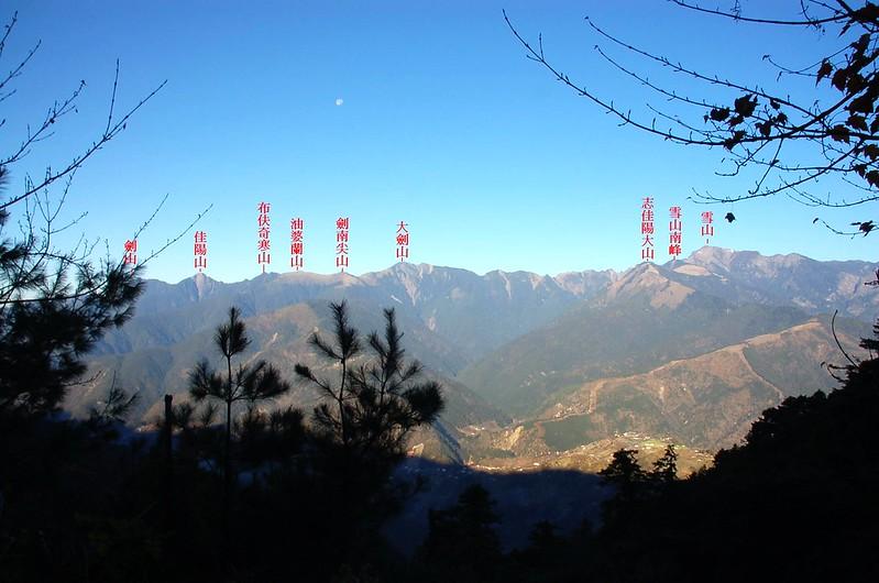雪劍連棱(From 730林道 ) 1