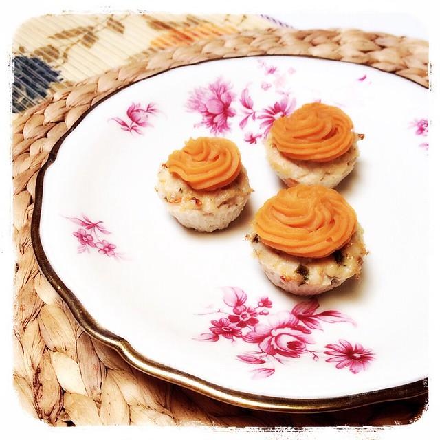 Muffins de pavo y pollo