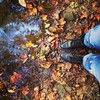 Day 22: Change.  Love hanging out at the creek in our backyard when the leaves change! Beautiful,peaceful place to be! #fmsphotoaday #fatmumslim #vintage #day22 #change #leaves #fall #ilovefall #vintageboots #leatherboots #justinboots #creek #backyard #ho