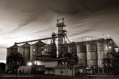longexposure sunset mill monochrome evening iso200 rice dusk farm crops f22 trinidadtobago tto chaguanas speed8 nikond700 ev59 afzoom2470mmf28g shotat48mm expcomp00 carlsonfield nationflourmillsltd