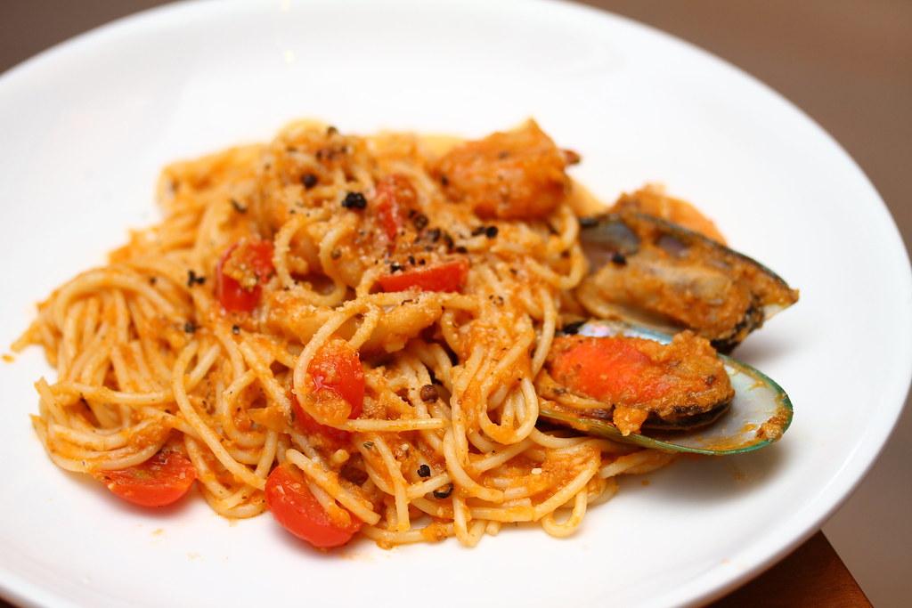 George Town Cafes: Armenian House's seafood spaghetti