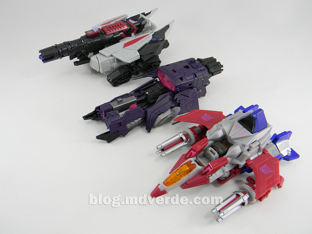 Transformers Starscream Deluxe - Generations Fall of Cybertron - modo alterno vs Shockwave vs Megatron