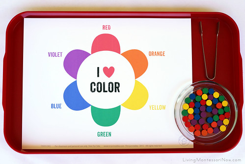 Secondary Colors Flower Color Wheel Activity