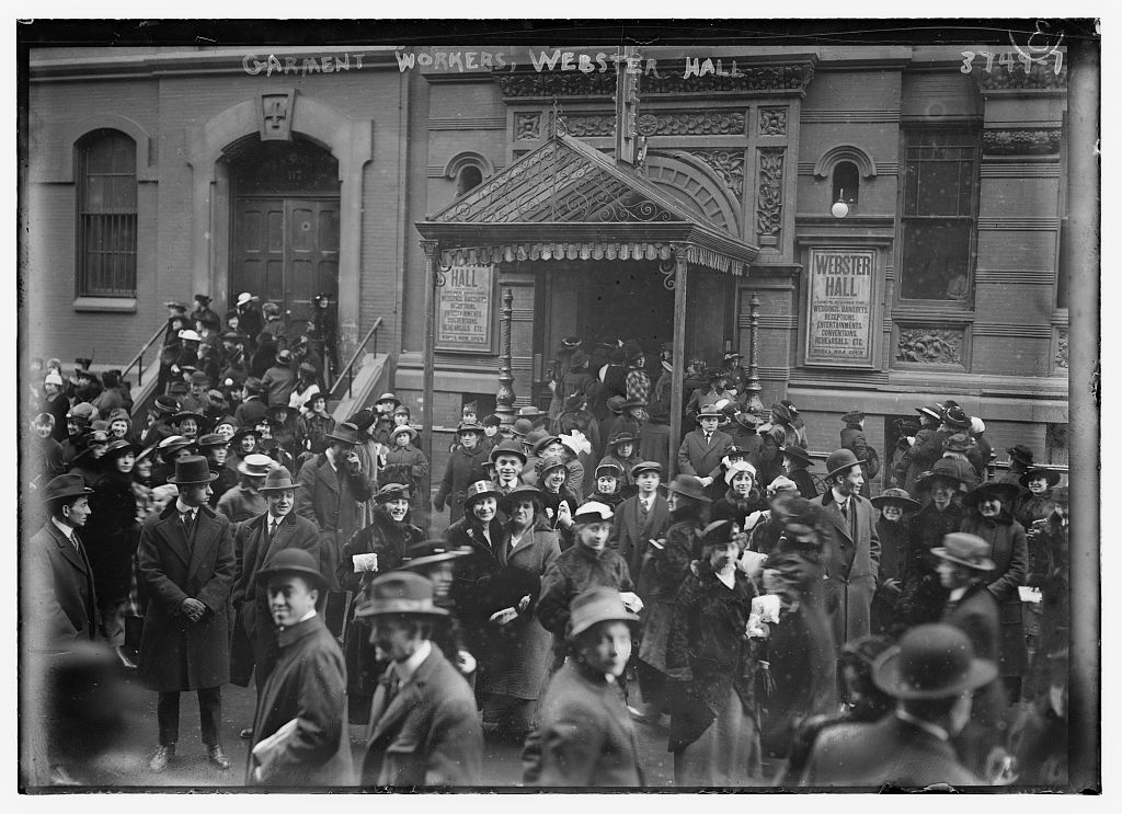 Garment workers, Webster Hall (LOC)