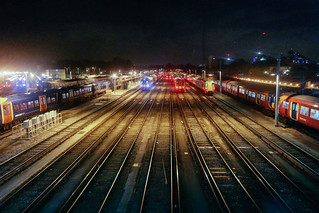 Where trains sleep at Clapham Junction