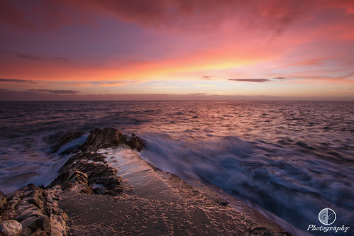 pink ireland light red sky colour water clouds sunrise canon coast movement rocks waves vibrant greystones 7d wicklow greystonescameraclub