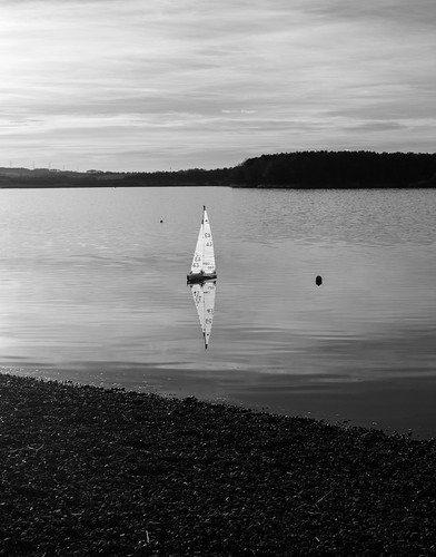 Model yacht on Loch Ore | by martinjyoung