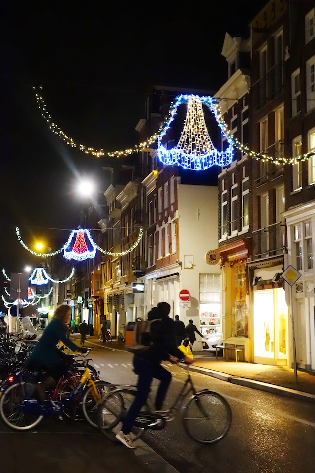 Amsterdam Christmas lights Haarlemmerstraat