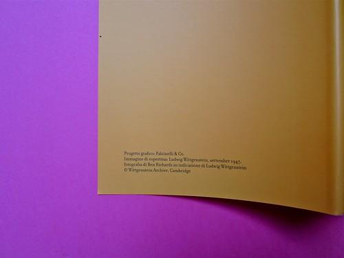 Michael Nedo (a cura di), Una biografia per immagini. Carocci 2013. Progetto grafico di Shoko Mugikura e Michael Nedo. Falcinelli & co. per l'ed. it. Risvolto della quarta di sovracoperta (part.) 1