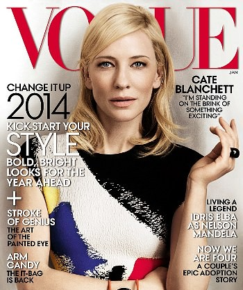 Cate Blanchett for Vogue January edition