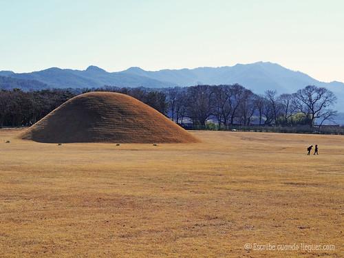 Típico paisaje que se puede contemplar mientras se da un paseo por las calles de Gyeongju