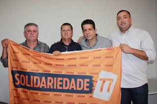 O vereador Juninho da Prefeitura com David, Sandoval e Sandro (àdireita)