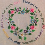 Romantic Love Heart Crewel Embroidery