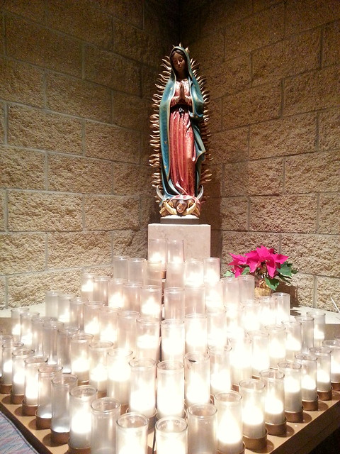Our Lady of Guadalupe and Vigil Candles