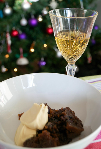 royal tokaji with christmas pudding