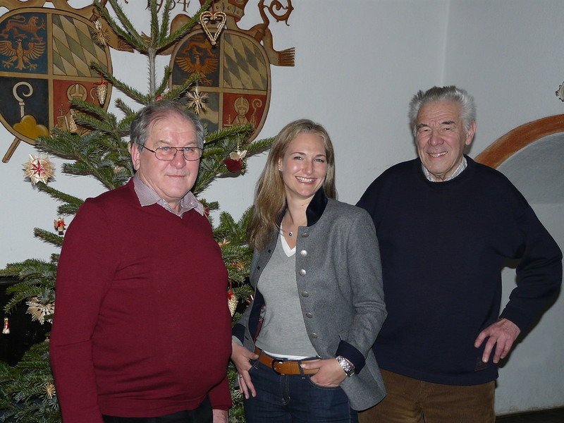 Hans Gschwandtner, Julia Ney und Otto Mauerer im Klostergasthof Andechs