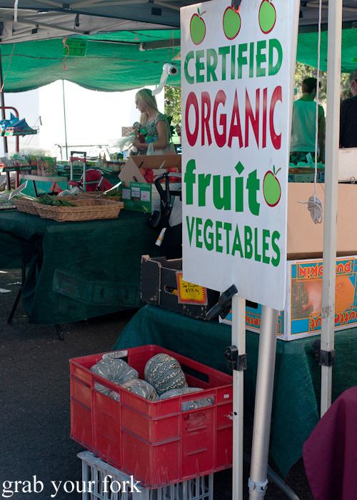 Organic fruits and vegetables at Frenchs Forest Organic Food Market