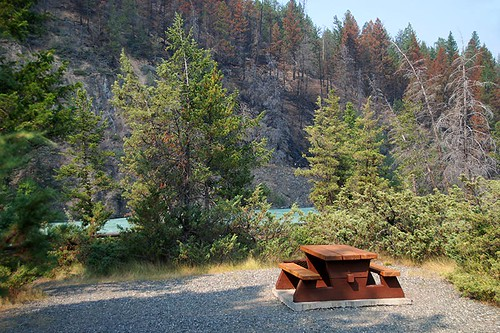 Campsite at Bull Canyon Provincial Park, Alexis Creek, Highway 20, Chilcotin, British Columbia, Canada
